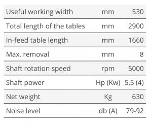 Tekniske detaljer PF-530