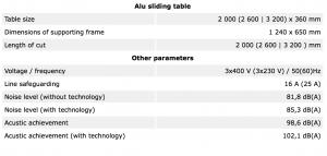 Tekniske detaljer PF400S INDUSTRY9