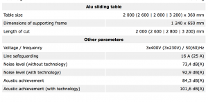 Tekniske detaljer PK320A EURO 9