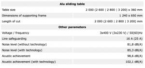 Tekniske detaljer PF300L INDUSTRY 9