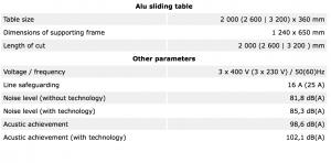 Tekniske detaljer PF350INDUSTRY 9